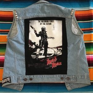 Other - Mad Max Custom Patch Metal Band Levi's Stud Vest